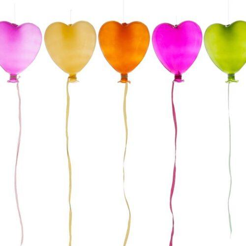 Szklane baloniki do zawieszenia od góry