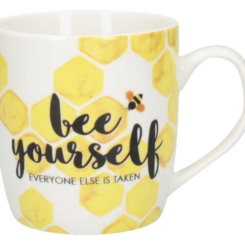 """Kubek z nadrukiem """"Bee Yourself"""""""