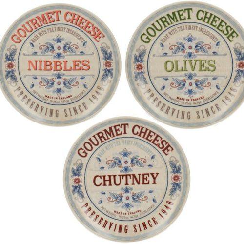 Kpl.3 talerzy z kolekcji Gourmet Cheese