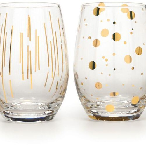 Mikasa Cheers Metallic Gold kpl.4 szklanek do wina