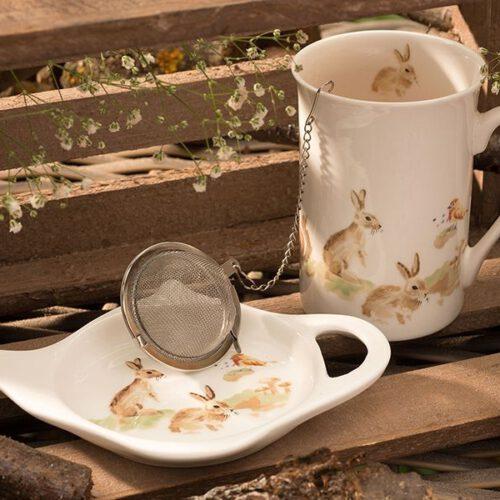 Kpl.kubek zaparzacz podstawka pod herbatę