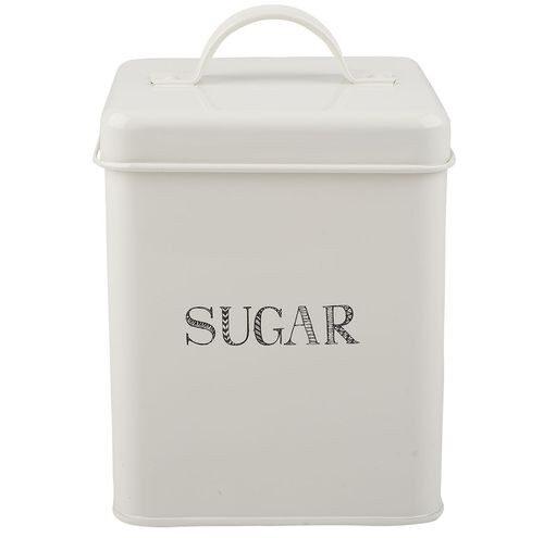 Metalowa puszka na cukier.