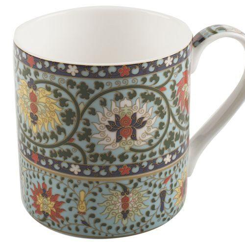 Porcelanowy kubek  z kwiatowym wzorem