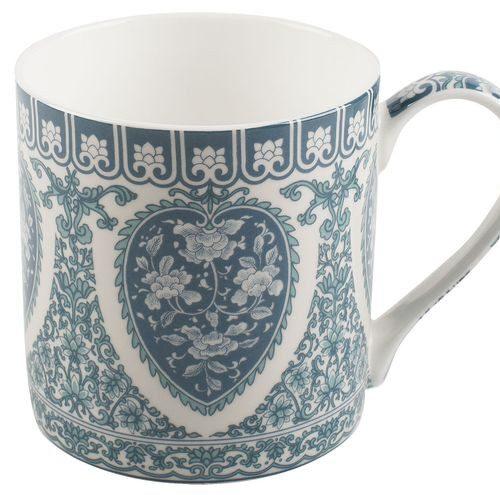 Porcelanowy kubek  z ornamentowym wzorem